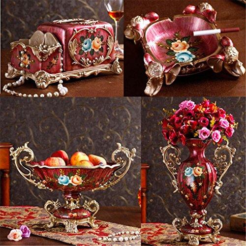 european-style-home-ears-big-vase-set-tissue-box-resin-ashtray-retro-living-room-decoration-decorati