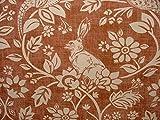 Heide Hasen und Game Birds Kupfer Baumwolle Designer