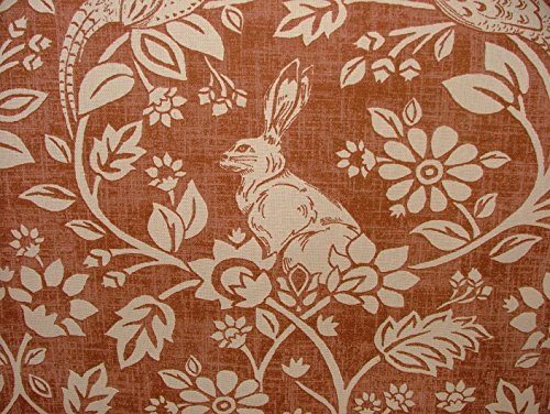 heathland-hares-and-game-birds-copper-cotton-designer-curtain-blinds-upholstery-fabric-sold-by-the-m