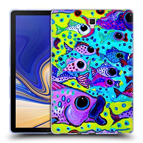 Head Case Designs Offizielle Mad Dog Art Gallery Fisch-Test Meer Soft Gel Hülle für Samsung Galaxy Tab S4 10.5 (2018)
