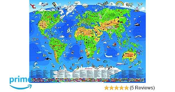 Wenschow 100350701/135/x 95/cm Kinder Wandkarte