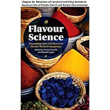 Flavour Science: Chapter 84. Retention of Carvacrol and Ethyl Acetate in Aqueous Gels of Potato Starch and Konjac Glucomannan