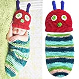 Babe Mall Inc® Fashion Unisex New-born Boy Girl Crochet Knitted Baby Outfits Costume Set Photography Photo Prop-Caterpillar