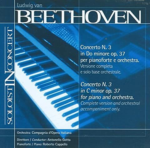 Music Minus One Piano: Beethoven Piano Concerto No.3 in C-minor, op.37 (Soloist-In- Concert Series) by Compagnia d'Opera Italiana (2012-01-16)