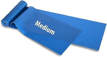 Fitsy® Elastic Exercise Workout Resistance Pilates Yoga Bands. (Blue-Medium)