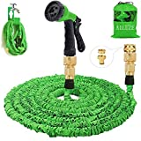 Gartenschlauch 50Ft erweiterbar Wasserschlauch Rohr - 3-mal erweitern flexiblen Schlauch, 8-Pattern-Spritzpistole Anti-Leckage Schlauch, Messing-Schlaucharmaturen, leicht, tragbar und einfach zu lagern