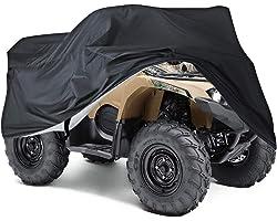 NEVERLAND Housse Bâche Protection pour Moto Quad ATV Extérieure Anti -UV XL Noir