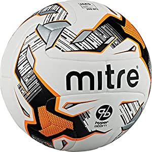 Mitre Ultimatch Hyperseam Match Football - White/Black/Orange, Size 3