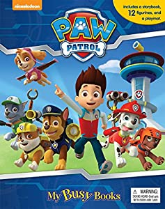 Nickelodeon PAW PATROL MY BUSY BOOKS Activity Kit / Playset - Set includes PawPatrol storybook, 12 figurines and a playmat by Published by Phidal Inc.
