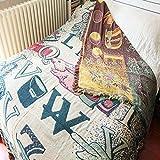 Gemütlich Jacquard gestricktes amerikanisches Gartensofa Cover Sofa Mat Universal Cover Handtuch (Größe: 180x220cm) für Sofa (Größe : 180x220cm)