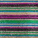 Fabulous Fabrics Paillettenstoff Candy Streifen 2 —