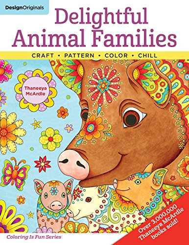 Delightful Animal Families: Craft, Pattern, Color, Chill (Colouring Books) por Thaneeya Mcardle