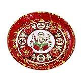 Creativity Creations Diwali Pooja Thali With Ganesha Meenakari Design N Diya