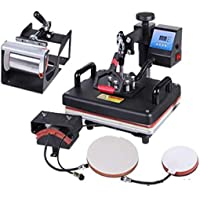 Supponn Heat Press 5 in 1 Digital Multi Functional Sublimation, Vinyl Printing Machine for T-Shirts (Any Flat Product…