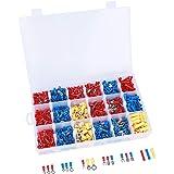 ValueHall 1200 Stucks Kabelschoenen met Draagbare Opbergbox Breed Gebruik Elektrische Stekkerverbinders 18 Types 3 Kleuren So