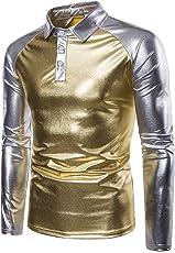 Luckycat Männer Herbst Winter Casual Patchwork Langarm Slim O Neck T-Shirt Top Bluse Mode 2018