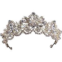 Damen Perle Kristall Hochzeit Haarband Stirnbänder Krone Diadem