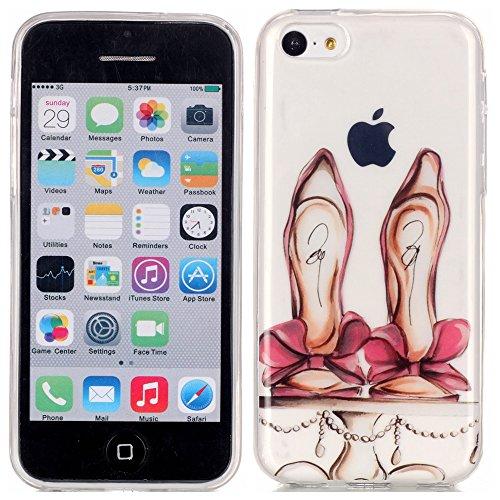 TPU Silikon Schutzhülle Handyhülle Painted pc case cover hülle Handy-Fall-Haut Shell Abdeckungen für Smartphone Apple iPhone 5C +Staubstecker (10FM) 8