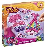 Trolls Bastel-Set: Bügelperlen-Bilder mit zwei verschiedenen Motiven (Poppy, Cupcake), Stickern und Steckplatten
