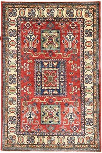 Nain 185x125 Trading Kazak 185x125 Nain Annodato a Mano Tappeto Orientale Grigio Scuro rosa Afghanistan 15ab4b