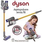 ODS- V8 Dyson Aspirapolvere Giocattolo per Bambini, Colore Grigio, Arancione e Viola, 20800
