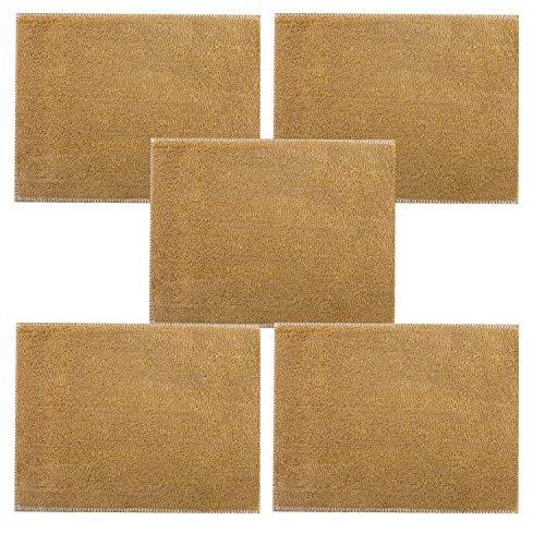 Tan Bambus (Hand® Tan koreanischen Bambus Faser Küche und Haushalt Reinigung Tuch doppelt gefaltet Dicke - 23 x 17 cm - 5er Pack)