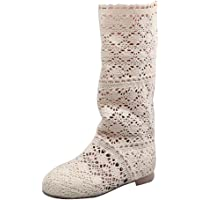 ORANDESIGNE Donna Ricamo Stivali Estive Affascinante Traspirante Stivali Elegante Sandali