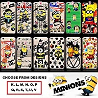 iCHOOSE iPhone 5, 5s, SE Case / Minions Hard Back Plastic Cover for Apple iPhone 5 / Screen Protector & Cloth / London / Moscow / Amorani ( K )