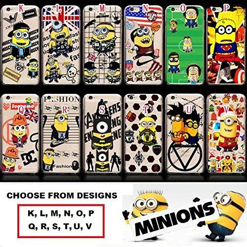 cas de Minion pour Apple iPhone 5, 5s, SE couverture de téléphone dur / design mince Cartoon dur retour / avec protecteur d'écran/ iCHOOSE / Noël ( V ) Chapeau / DC / Suopema ( Q )