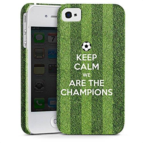 Apple iPhone X Silikon Hülle Case Schutzhülle Fußball Champions Sieger Premium Case glänzend