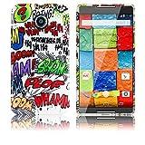 thematys Motorola Moto X 2. Generation Silikon Schutz-Hülle Comic HAHA weiche Tasche Cover Case Bumper Etui Flip Smartphone Handy Backcover
