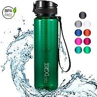 """720°DGREE Trinkflasche """"uberBottle"""" - 1L - Wasserflasche Auslaufsicher - Sportflasche, Schule, Sport, Fahrrad - BPA-Frei..."""