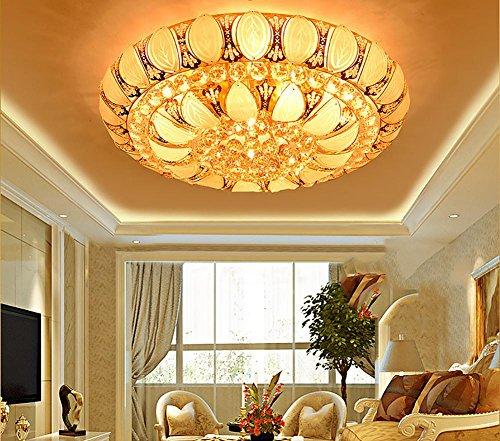 all Lampe Buntes Licht Gold Zimmer Hauptschlafzimmer Atmosphäre Runden Wohnzimmer Restaurant, Diameter 40cm + Remote Control ()