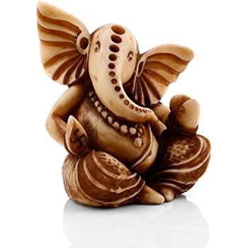 Collectible India Marble Ganesha Marble Statue (14.98 cm x 12.99 cm x 9.99 cm)