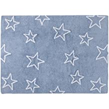 Lorena Canals Alfombra Infantil Lavable Modelo Estrellas Color Azul