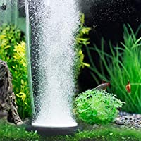 5.2-Inch Aquarium Air Stone Fish Tank Bubbler Round Air Stone Disk Set for Hydroponics, Small Bubbles, Ultra-High Dissolved Oxygen Diffuser