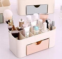 Allium Plastic Cosmetic Storage Box with Drawer, 22x10.5x10.5cm (Multicolour, 354168)