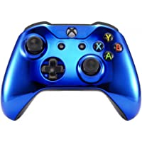 eXtremeRate Chrome Blue Edition Front Housing Shell Faceplate for Microsoft Xbox One S & Xbox One X Controller(Model…