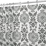 InterDesign 40499EU  Damask Duschvorhang 180 x 200 cm, Dunkelgrau