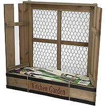 Pflanzkasten für Kräuter mit Basilikum-Samen 40 x 37 cm | für Küche Balkon Fensterbank