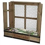 Jardinière pour herbes aromatiques avec graines de basilic 40x 37cm | pour cuisine balcon rebord de fenêtre