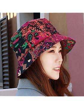 La mujer de la sombrilla de primavera y verano sombrero protector solar nacional de pesca octogonal cap hat puede...
