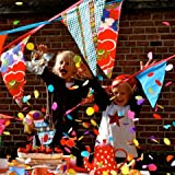 Large Colourful Original Cotton Bunting - 11.5m long - Lifes A Party - Original (Red)