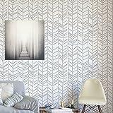 Herringbone handgezeichnet Wandschablone - Schablonen für wände - Maler Schablonen