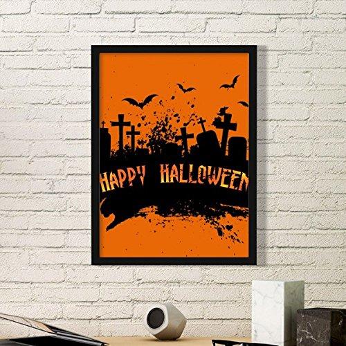 ght Friedhof Halloween Einfache Bilderrahmen Kunstdrucke Malereien Startseite Wandtattoo Geschenk Small Schwarz ()