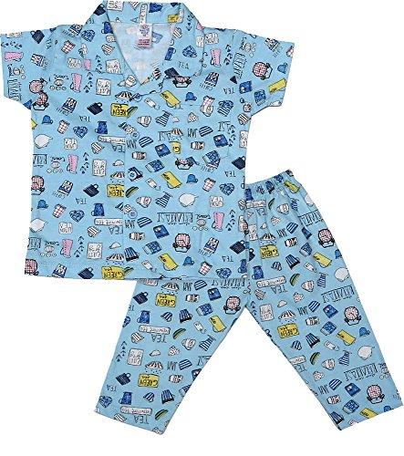 Nauti Kidz Boys' Cotton Night Suit Set (NK051PCBFASTBL-18-24Months, Multi-Coloured, 18-24Months)