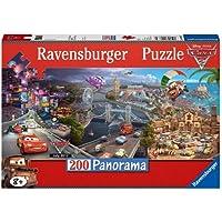 Ravensburger Italy 12645 - Disney Cars Panorama Puzzle, 200 Pezzi