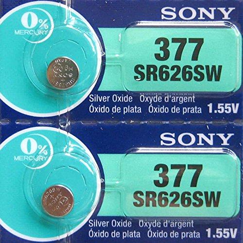 Sony SR626SW 1.55V 0% Mercury Battery (2pcs per pack)