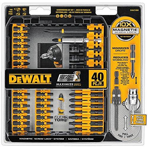DEWALT DWA2T40IR IMPACT READY FlexTorq Screw Driving Set, 40-Piece by DEWALT -