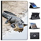 "coccodrilli & Alligatori Case Cover/portafoglio in similpelle per il Apple iPad nero Alligator sonnt sich Apple iPad Pro 10.5"" (2017)"